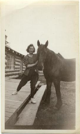 Jean with Bob the horse