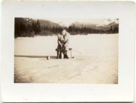 Ice fishing on Alta Lake
