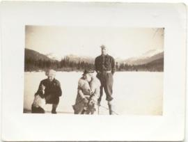Ice fishing on Alta Lake with Skookum