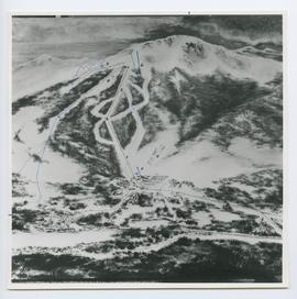 Aerial of Whistler Mountain, showing Proposed Runs