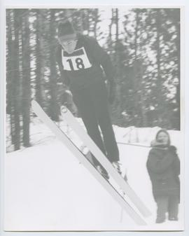 Close up of Ski Jumper in Bib