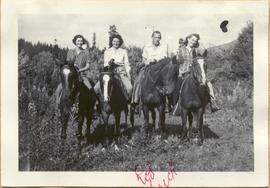 Rainbow Lodge staff on horseback