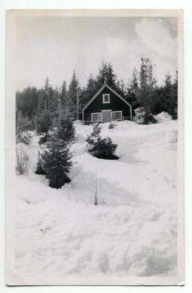 Philip family home in snow