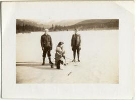 Ice fishing at Alta Lake