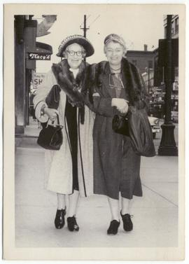 Myrtle Philip and Grace Naismith in Vancouver
