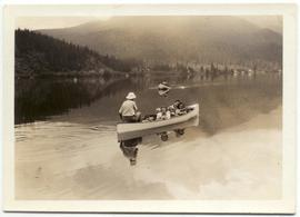 Canoe on Alta Lake