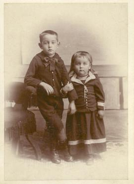 Philip and Myrtle Tapley as children