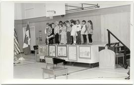 Children on a stage