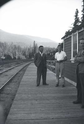 unknown men at a railway station