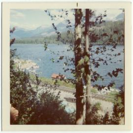 Photograph of Alta Lake from arross the railway tracks