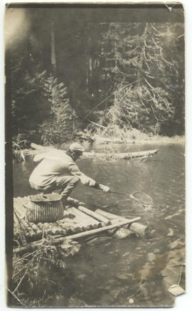Alex Philip fishing at Alice Lake