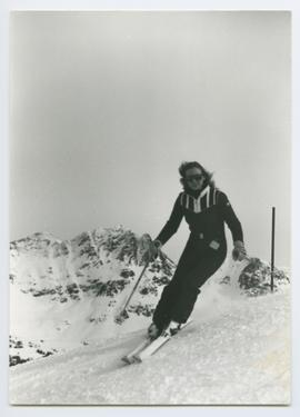 Woman Skiing with Sunglasses