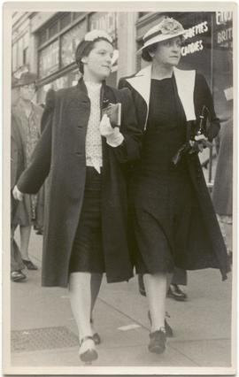 Mary Rayner and Myrtle Philip in Vancouver