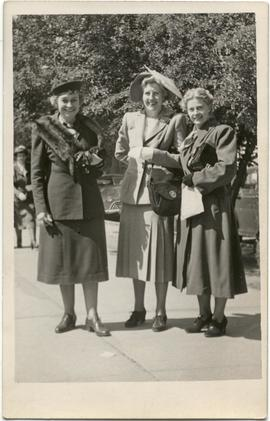 Myrtle Philip, Grace Naismith and an unknown woman