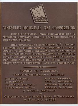 WMSC Commemorative Plaque