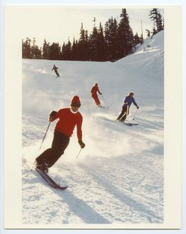 Ski School Instructor Leading Students