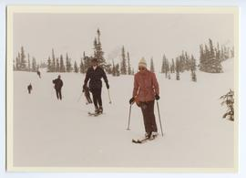 Pierre and Margaret Trudeau Skiing a Green Chair Run