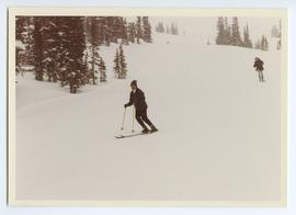 Pierre Trudeau Skiing a Green Chair Run