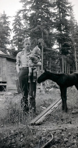 Wallace & Louise Betts with foal