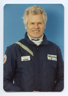 Jim McConkey in Whistler Ski School Uniform