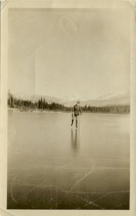 Myrtle Skating on Alta Lake 1924