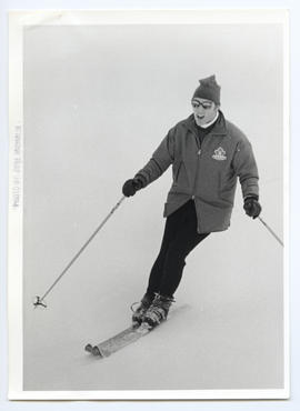 Close View of Pierre Trudeau Skiing