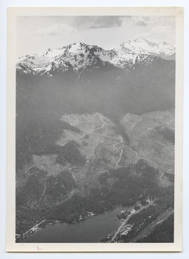 Aerial View of Ski Runs on Whistler Mountain
