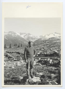 Man Hiking in the Alpine